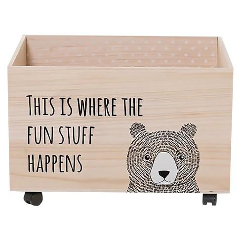 Wood Box With Wheels 23 5 3r Studios
