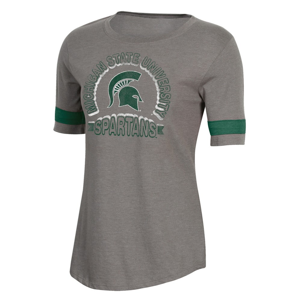 NCAA Women's Short Sleeve Scoop Neck T-Shirt Michigan State Spartans - XL, Multicolored