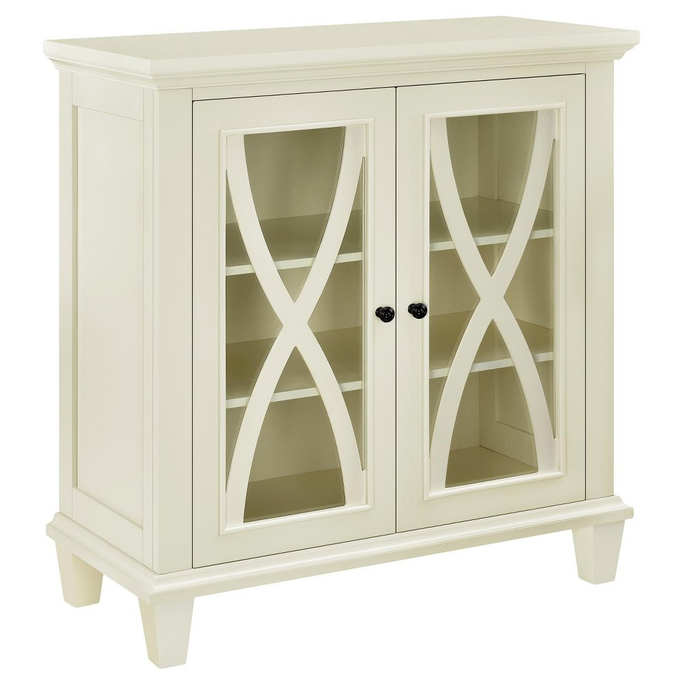 Drakestone Double Door Accent Cabinet Ivory - Room & Joy