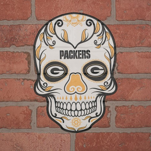 NFL Green Bay Packers Small Outdoor Skull Decal   Target 67d75a5c7