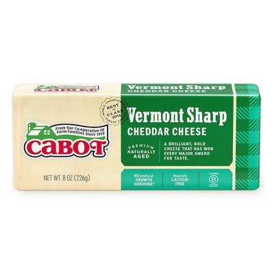 Cabot Creamery Vermont Sharp Cheddar Cheese - 8oz