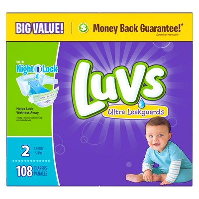 Luvs Diapers Big Pack Size 2 108 ct