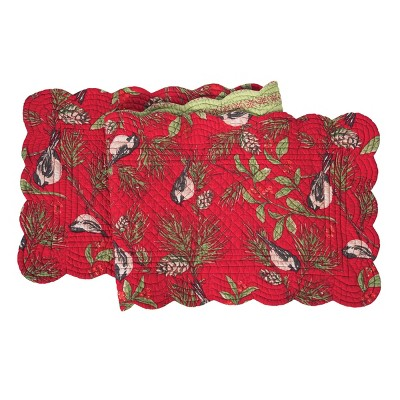 """C&F Home 14"""" x 51"""" Chickadee Red Table Runner"""