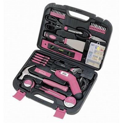 Apollo Tools 135-Pc. Household Tool Kit - Pink