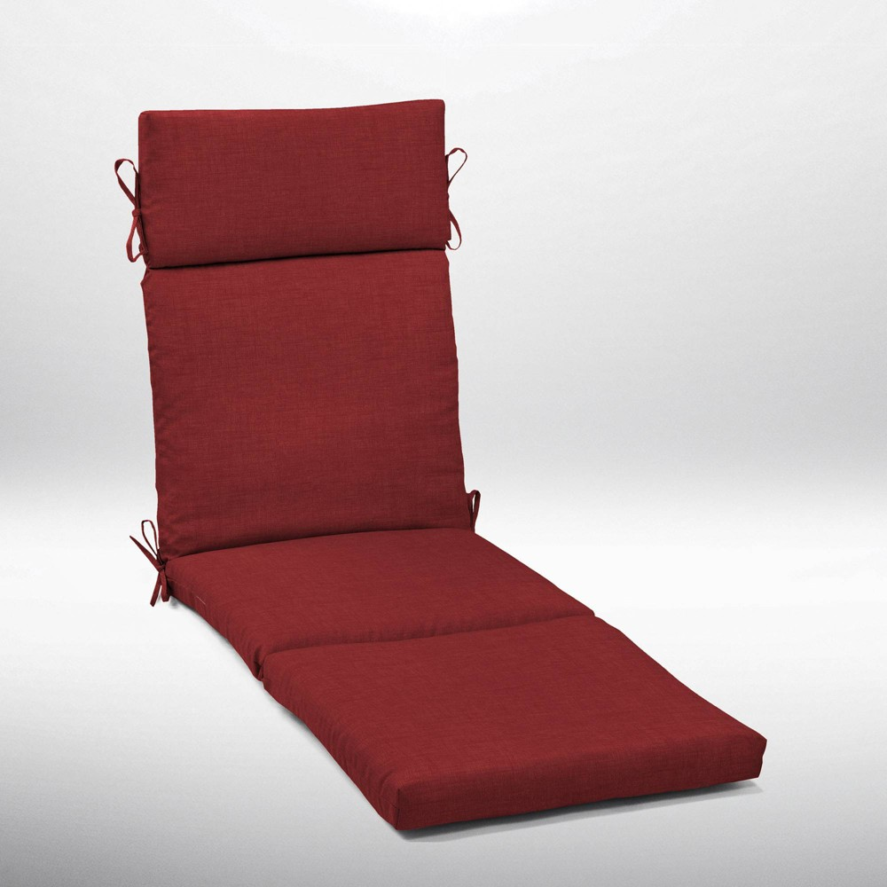 Leala Texture Cartridge Chaise Cushion Ruby Arden Selections