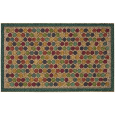 "1'6""x2'6"" Bright Colorful Dots Ornamental Entry Mat - Mohawk"