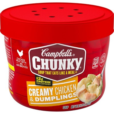 Campbell's Chunky Creamy Chicken & Dumplings Soup Microwaveable Bowl - 15.25oz