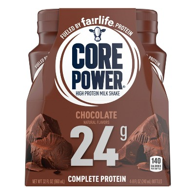 Core Power Chocolate Protein Shake - 4pk/8 fl oz Bottle