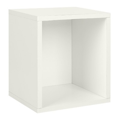 Way Basics Stackable Eco Storage Cube Cubby Organizer White