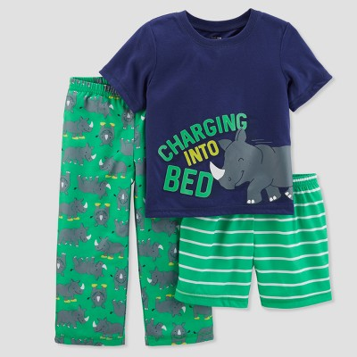 Baby Boys' 3pc Charging Into Bedtime Pajama Set - Just One You® made by carter's Green 18M