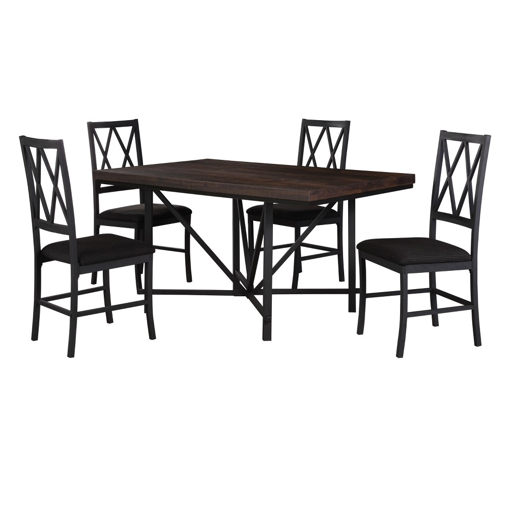 5pc Dining Set Brown - Home Source Industries