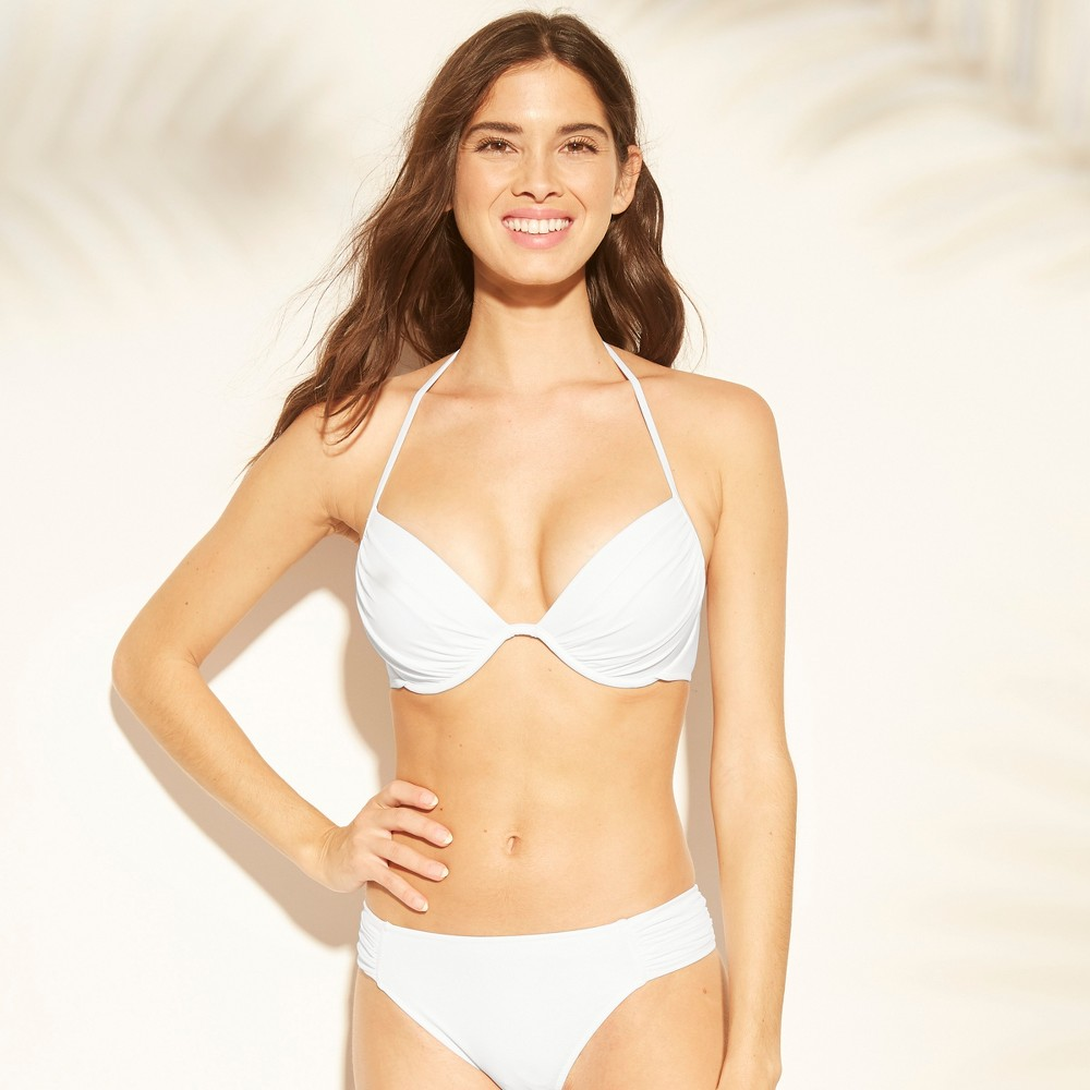 Women's Shore Light Lift Halter Bikini Top - Shade & Shore White 34C