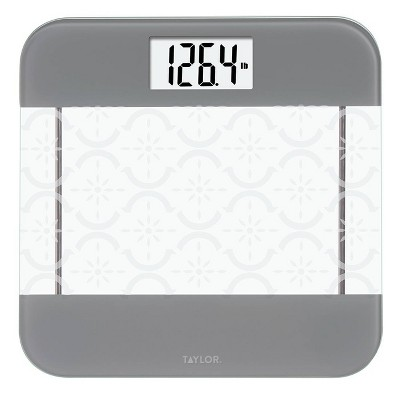 Glass Digital Scale with Moroccan Frosted Design Clear - Taylor
