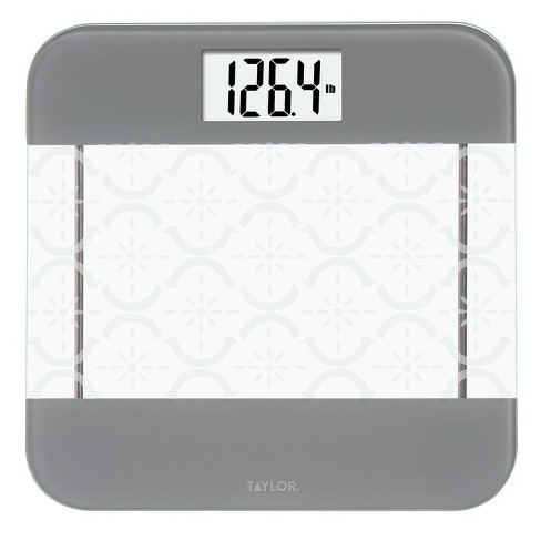 Glass Digital Scale With Moroccan Frosted Design Clear Taylor Target