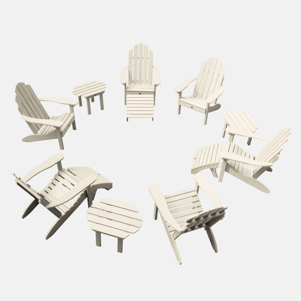 Image of 12pc Classic Westport Adirondack Patio Set Whitewash - highwood
