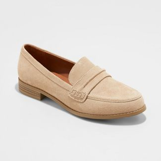 Women's Anamae Suede Closed Back Loafers - Universal Thread™ Taupe 8