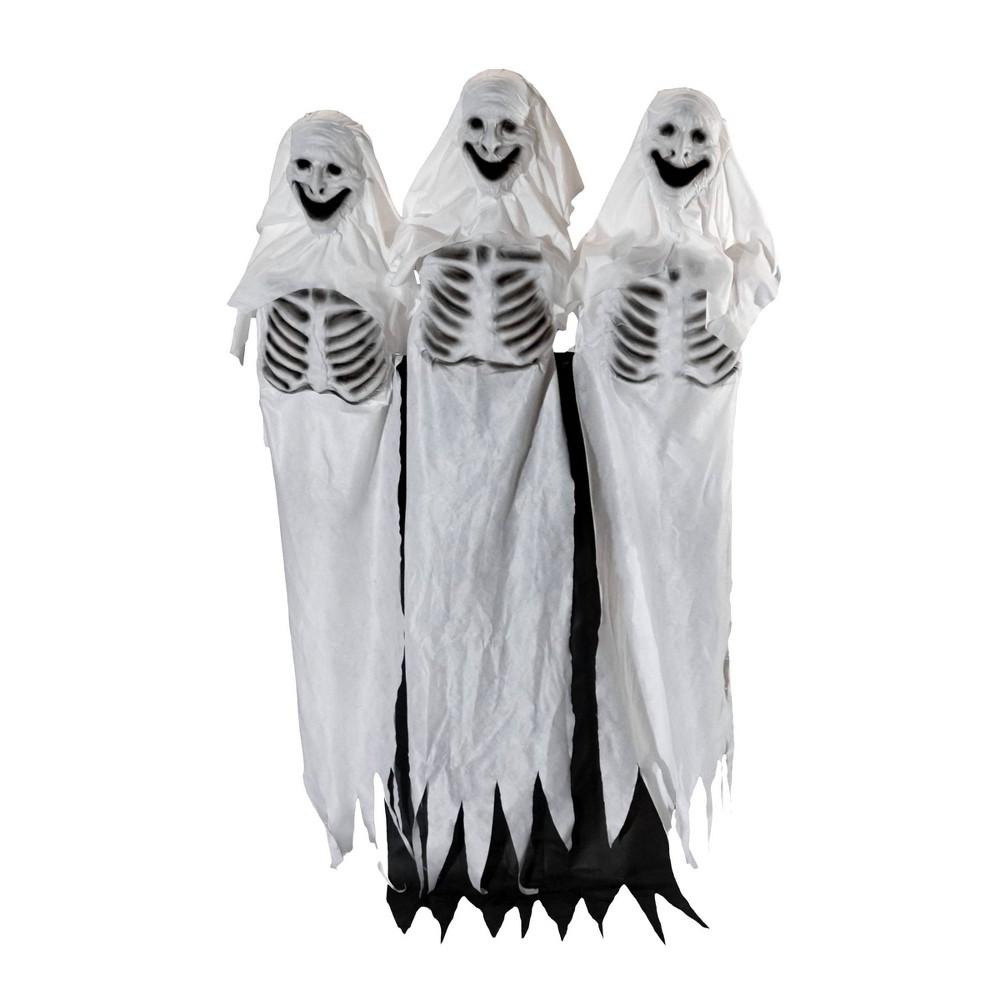 Trio of Ghosts Decorative Halloween Scene Prop, White
