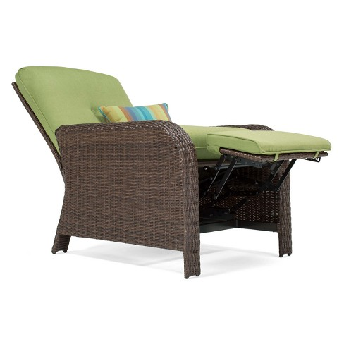 La Z Boy Outdoor Sawyer Wicker Recliner With Sunbrella Spectrum Cushion Target