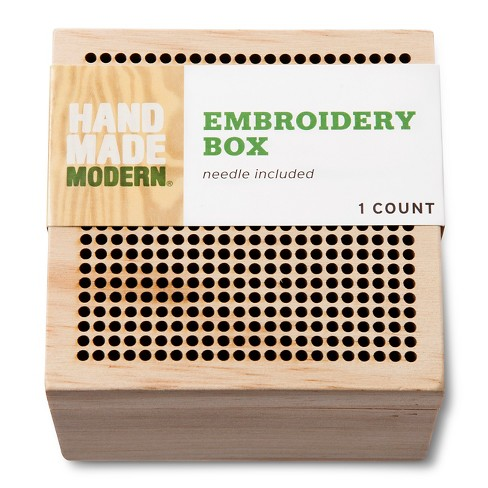 Hand Made Modern - Wood Grid Top Box - image 1 of 2