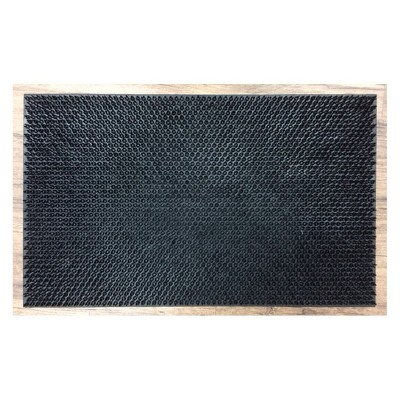 1'6 X2'6  Solid Doormat Black - Mohawk
