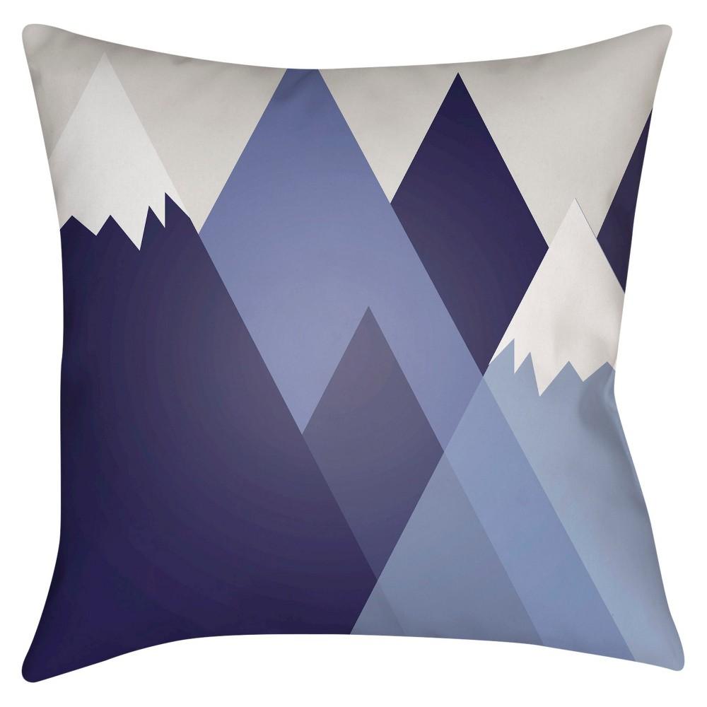 Navy (Blue) Mountain Escape Throw Pillow 20