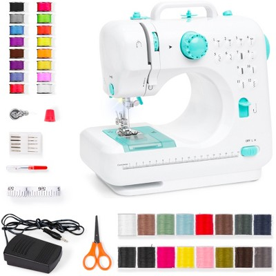 Best Choice Products 6V Portable Sewing Machine, 42-Piece Beginners Kit w/ 12 Stitch Patterns