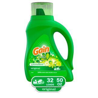 Gain HEC Original Liquid Laundry Detergent - 50oz