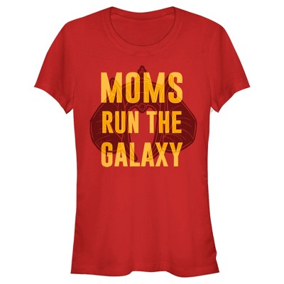 Junior's Star Wars Mother's Day Moms Run the Galaxy T-Shirt