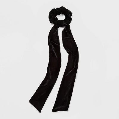 Long Velvet Tail Twister Hair Elastic - Wild Fable™ Black