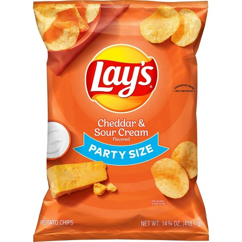 Lay's Cheddar & Sour Cream - 14.75oz - image 1 of 3
