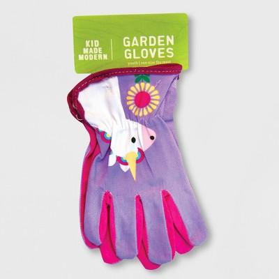 Unicorn Gardening Gloves Purple One Size - Kid Made Modern