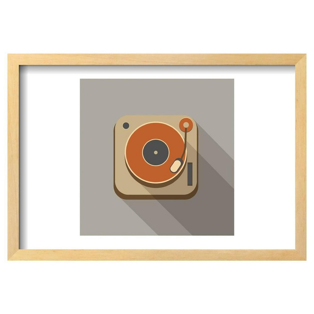 Retro Record Player Icons By Yasnaten Framed Poster 19