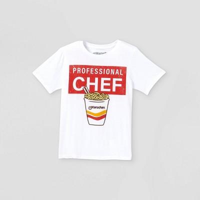 Boys' Maruchan Professional Chef Short Sleeve Graphic T-Shirt - White