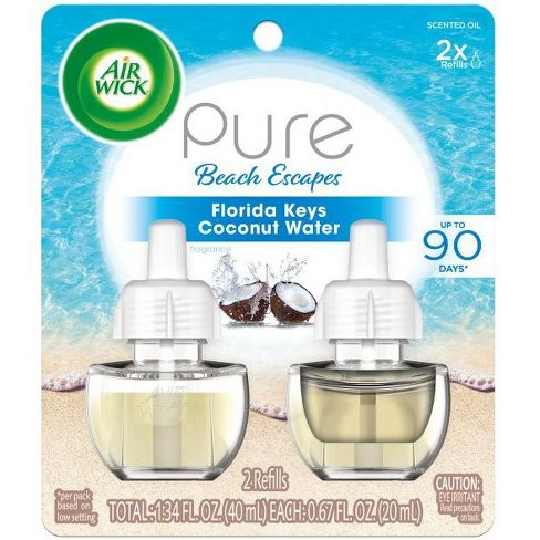 Air Wick Pure Beach Escapes Florida Keys Coconut Water Scented Oil Twin Refill - 2ct/0.67oz - image 1 of 4