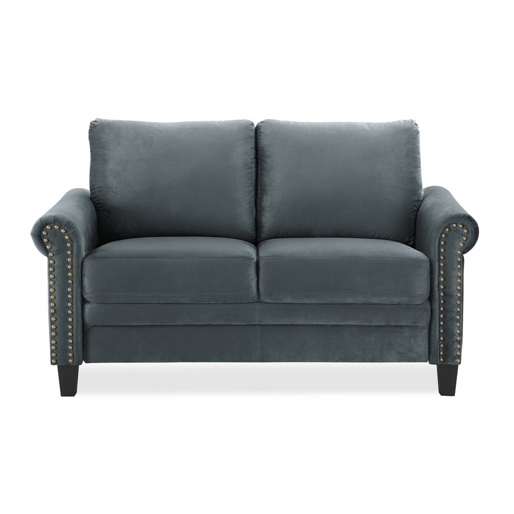 Image of Ashley Microfiber Loveseat Dark Gray - Lifestyle Solutions