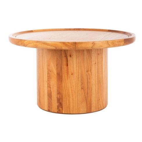 Devin Round Pedestal Coffee Table - Safavieh - image 1 of 4