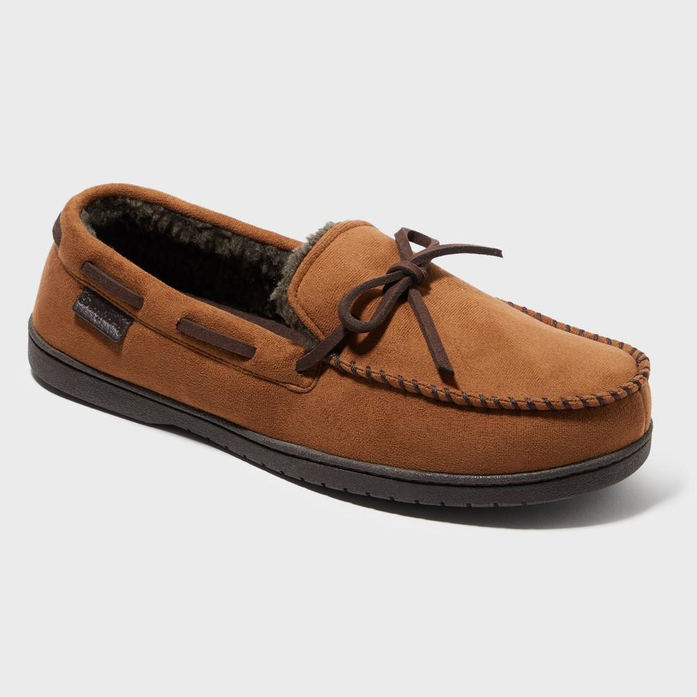 Men's Dearfoams Moccasin Slippers - Brown XL