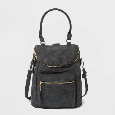 VR NYC Convertible Backpack - Black