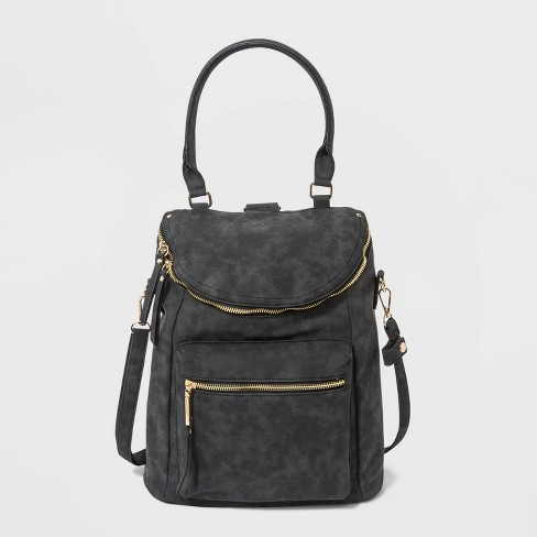 VR NYC Convertible Backpack - Black - image 1 of 4