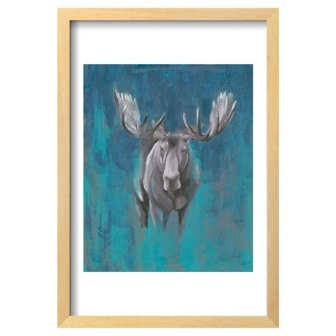 "Contemporary Cervidae I By Grace Popp Framed Poster 13""X19"" - Art.Com - image 1 of 3"