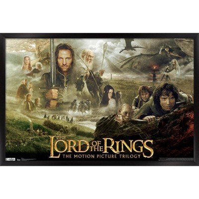 Lord Of The Rings - Trilogy Framed Poster Trends International