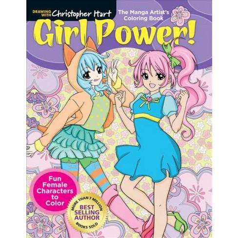 Manga Artist\'s Coloring Book : Girl Power! Fun & Fabulous Females To ...