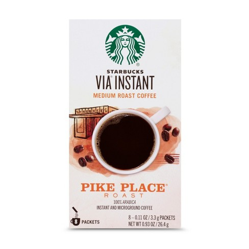 Starbucks Via Instant Pike Place Roast Medium Roast Coffee 8ct