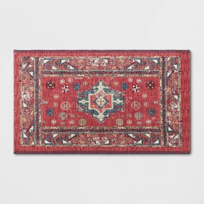 Vintage Persian Medallion Kitchen Rug Red - Threshold™
