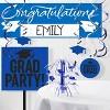 Blue Congratulations Graduation Party Banner - image 2 of 2