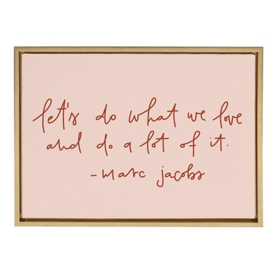 """18"""" x 24"""" Sylvie Do What We Love Framed Canvas Wall Art by Maja Tomljanovic Gold - Kate and Laurel"""