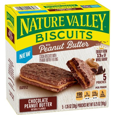 Nature Valley Biscuit Peanut Butter Chocolate - 5ct