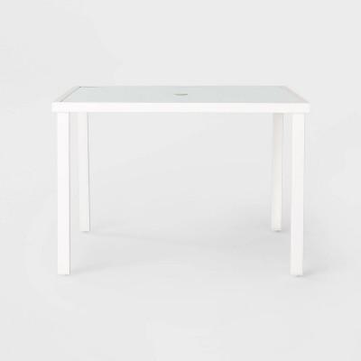Berkley 4-Person Square Patio Dining Table - White - Threshold™