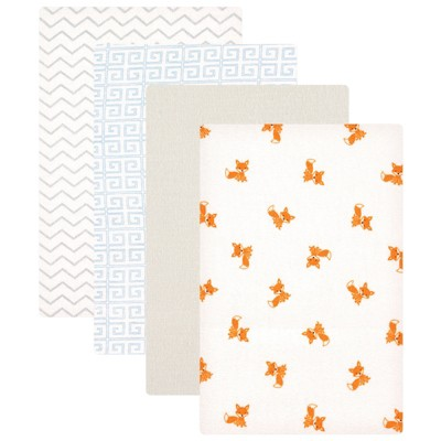 Luvable Friends Baby Boy Cotton Flannel Receiving Blankets, Fox, One Size