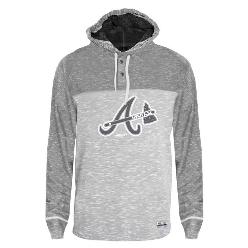 watch 91d71 292e7 MLB Atlanta Braves Men's Clubhouse Tonal Henley Hoodie